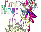 Mythic Nature Goddesses Coloring Book Pages Printable