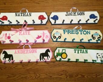 Personalized Coat Rack - Kids Personalized Coat Rack - Wall Peg - Custom Hanger