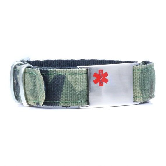 One of our newest styles, a canvas sport band.