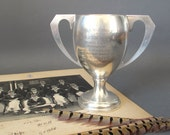1960's Cruising & Yachting Silver Plate Trophy from England - English Trophy Loving Cup - Sports Cup