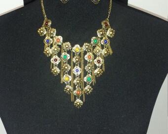 Beads drop necklace set