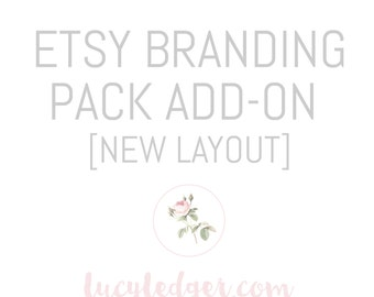 Etsy Banner design add-on for any logo purchased. Etsy custom branding pack. Etsy shopfront design.