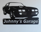 1979 Pontiac Firebird Trans Am Personalized Man Cave Classic  Garage Sign Satin Black