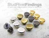 5sets 8mm HEAD, mini Button Studs Stand Leather Screw back for DIY Craft / HIGH Quality