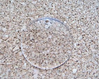 Clear Acrylic Circles Round Keychain Blanks 2 Inch Lot of 10