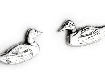Ducks Sterling Silver Post Earrings