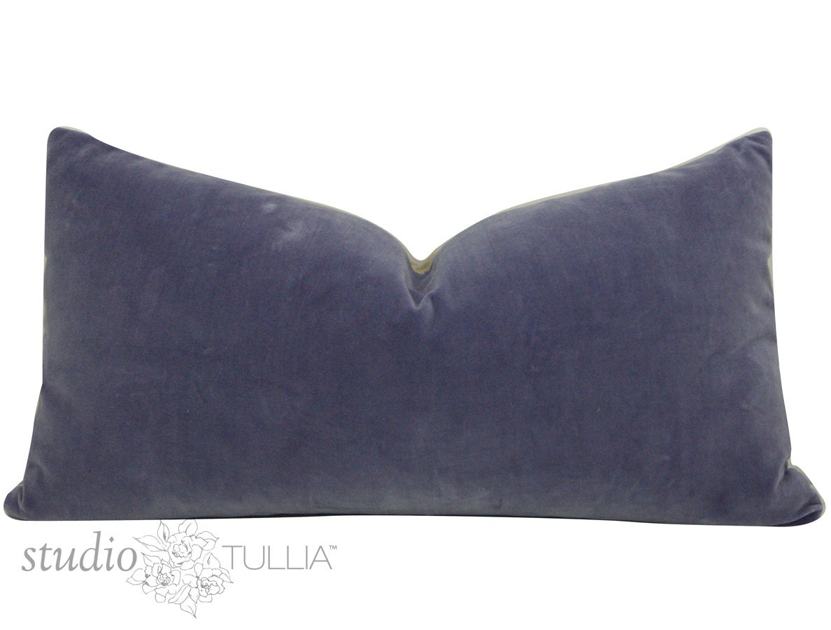 Lavender Velvet Throw Pillow : Decorative Pillow Cover Lavender Velvet Pillow Cover