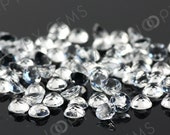 White Topaz Rose Cut Cabochon 4mm Round - 1 cab