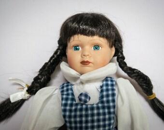 Vintage Porcelain Farmer Girl Doll