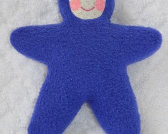 Handmade Blue Star Baby with light face Stuffed Plush Doll Softie
