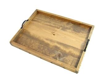 Ottoman Tray, Serving Tray, Coffee Table Tray, Breakfast Tray, Decorative Wood Tray, Wedding Gift, Anniversary Gift, Housewarming Gift