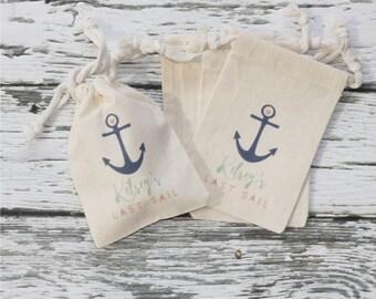 LAST SAIL Survival Kit - Personalized Favor Bags - Set of 10 - Bachelorette Party - Wedding Shower