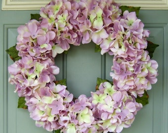 Summer Wreath - Spring Hydrangea Wreath - Summer Hydrangea Door Wreath