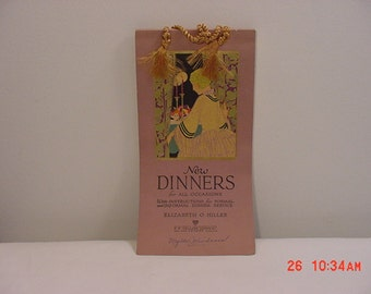 Vintage 1927 Cook Book New Dinners In Original Gift Box  16 - 303