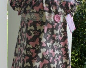 Baby girl Peasant Dress, size 12mo, Easter Spring