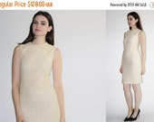 SALE 65% OFF ends 02/16 50s Jonathan Logan Ivory Lace Dress - Vintage Lace Wiggle Dress -  Vintage Wedding Dress - The Quiet One Dress  - 80