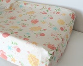 Baby Girls Bedding - Watercolor Fitted Crib Sheet / Mini Crib Sheet / Wildflowers Nursery Bedding / Fitted Crib Sheet / Etsy Baby Sheet