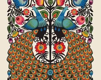 Peacock silkscreen