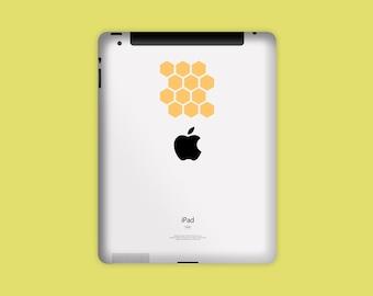 HONEYCOMB DECAL, iPad Decal, Tablet Decal, Vinyl Sticker