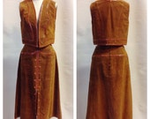1960s Suede and Python Skin Vest and Skirt by Abbé RESERVED for Lee