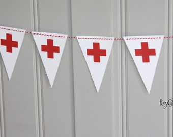 Red Cross - Nursing - Healthcare - Doctor - Party Banner