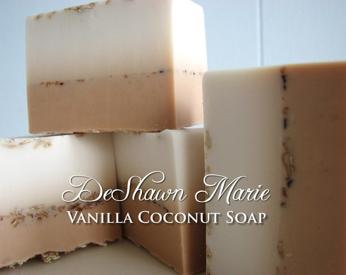 SALE SOAP - 3LB Vanilla Coconut Vegan Handmade Soap Loaf, Wholesale Soap Loaves