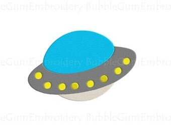 UFO Embroidery Design Instant Download