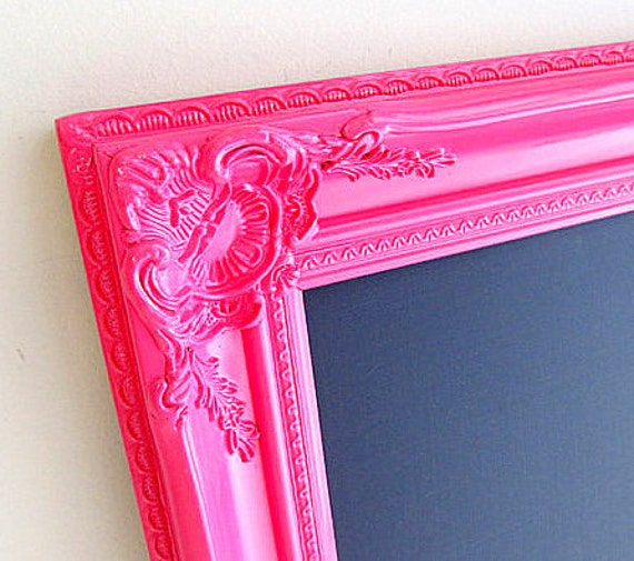 GIRLS ROOM DECOR Pink Chalkboard Hot Pink Wall Decor Teenage Girl Gift Birthday Party Decoration Desk Organizer Kids Room Decor Fuchsia Pink