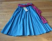 80s triangle print skirt