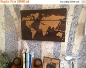 World Map - Wood Map - Wooden Map - World Map - Wooden World Map - Map Wall Hanging - Map Of The World - Rustic Home Decor - Plank Wood Map