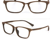 handmade prescription sunglasses lenses Wood grain black brown glasses