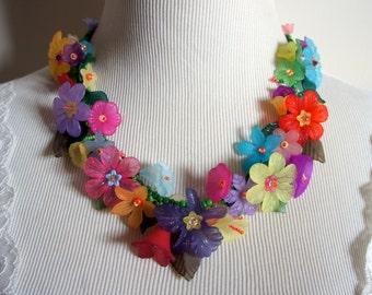 Hawaiian Floral Lei Necklace B