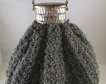 Vintage Ice Bag Purse - Metallic Silver