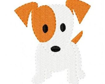 Dog Doggy Puppy Machine Embroidery Design // Joyful Stitches