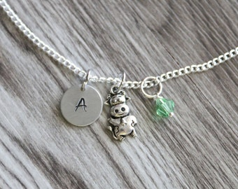 Cow Necklace, Personalized Initial Necklace, Birthstone Charm, Gift for Her, Swarovski Necklace, Teen Jewelry,  Children Necklace Gift