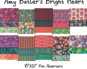 "SALE - Bright Heart - Amy Butler 18"" X 21"" Fat Quarters - 28 PIECE BUNDLE - Cotton"
