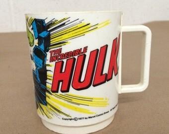 Vintage Plastic Hulk Cup