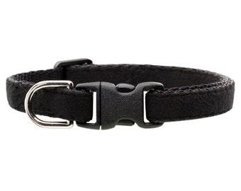 "Cat Collar - ""The Luxe"" - Black Ultrasuede"