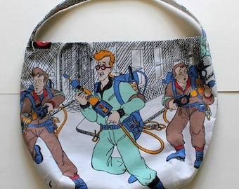 Ghostbusters Purse or Bag - Who You Gonna Call? - Shoulder Bag Style - Upcycled from vintage fabric