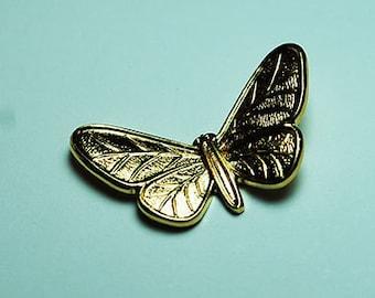 DESTASHING!  10pcs Brass Butterflies