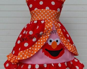 Sweetheart ELMO peekaboo Jumper Dress
