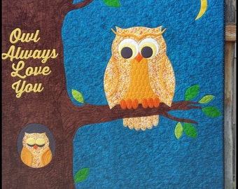 Owl Always Love You - Pre-cut quilt KIT with pattern
