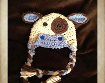 CRAFT FAIR  SALE Mr. Moo crochet hat