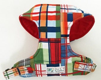 Madras Plaid Comfort Soft Dog Harness - Made to Order-