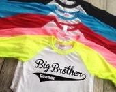 Baseball big brother shirt little brother shirt big sister shirt little sister shirt raglan baseball style big brother shirt add name