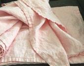 Soft Pink 100 % Linen Throw
