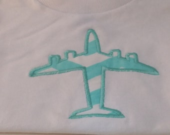 Applique Childrens Clothing-Airplane Shirt-Plane T-Shirt-Embroidered Shirt-18 Months-READY TO SHIP