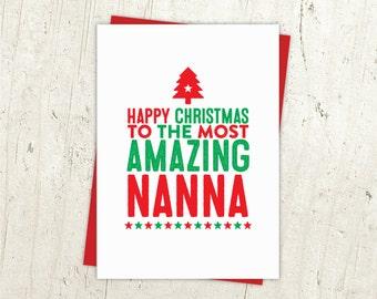 Happy Christmas Nanna Card