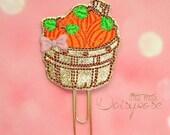 Pumpkin Patch Basket Glitter Planner Clip