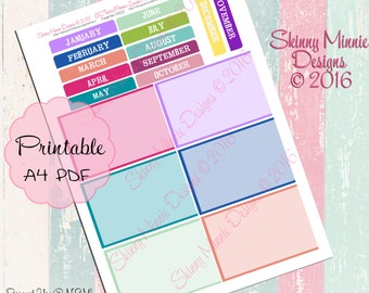 EC Teacher Planner 2016 - Holidays and dates to remember stickers #1  (Digital)